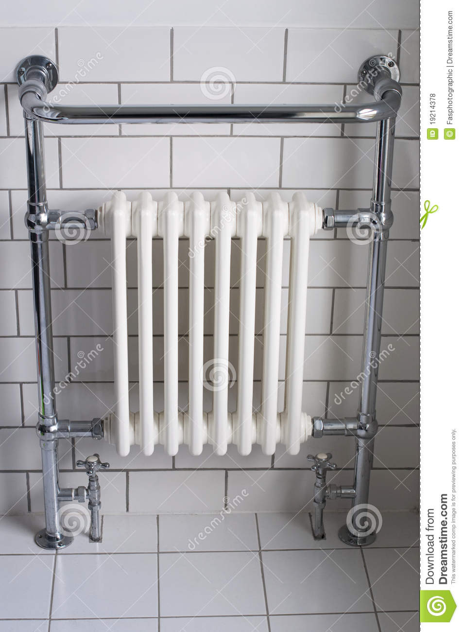 A Chrome Bathroom Radiator Stock Photo Image Of Radiator