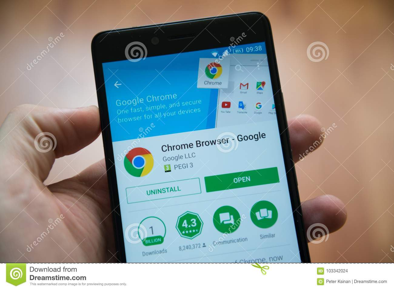 Chrome Browser application in google play store