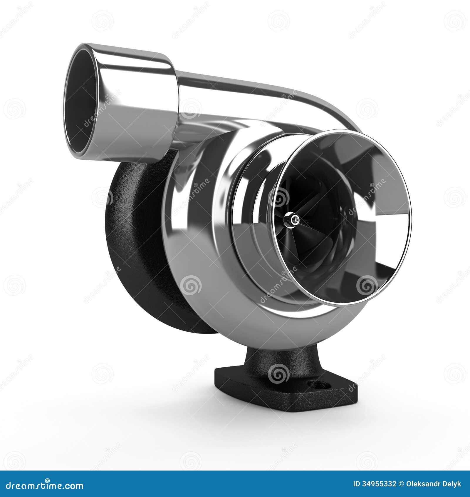 Chrome Car Turbine Auto Parts Stock Photography Image