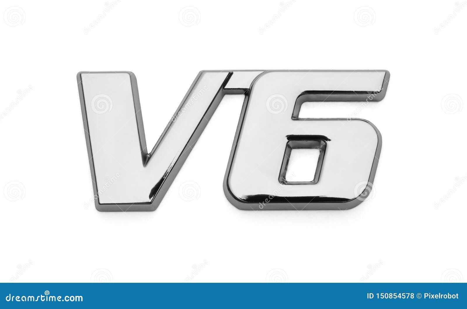 Chrome för bil V6 logo