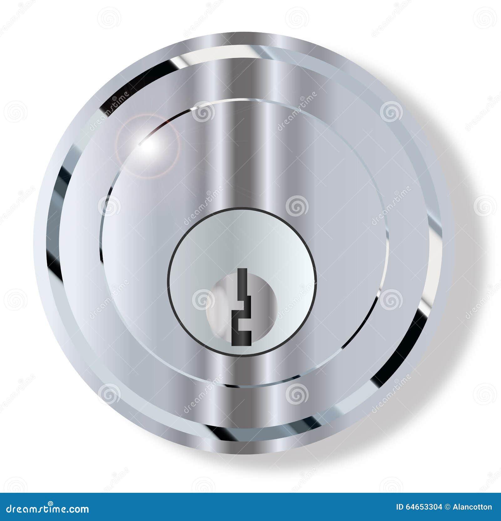 chrome front door lock