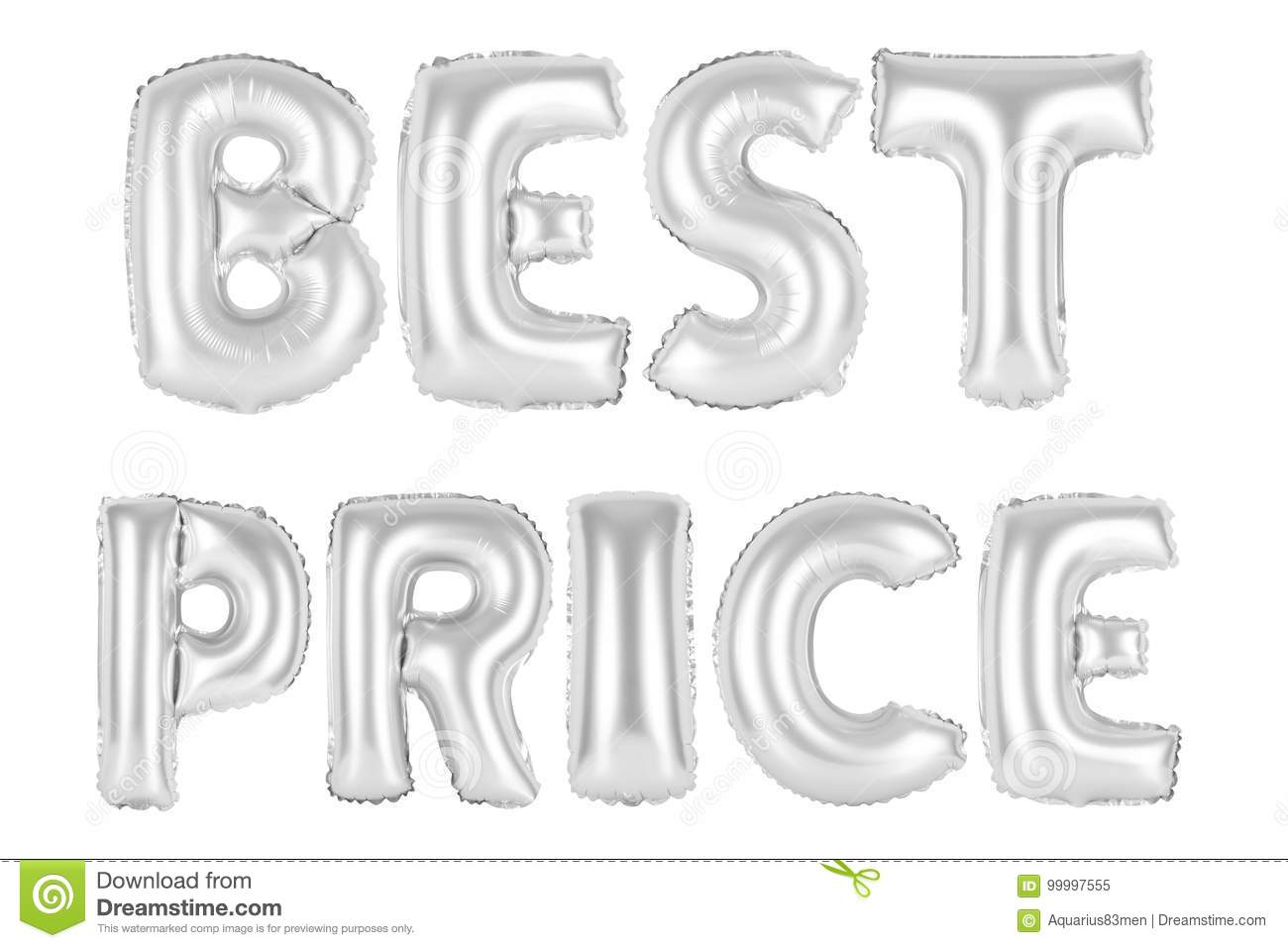 Best Price, Chrome Grey Color Stock Illustration