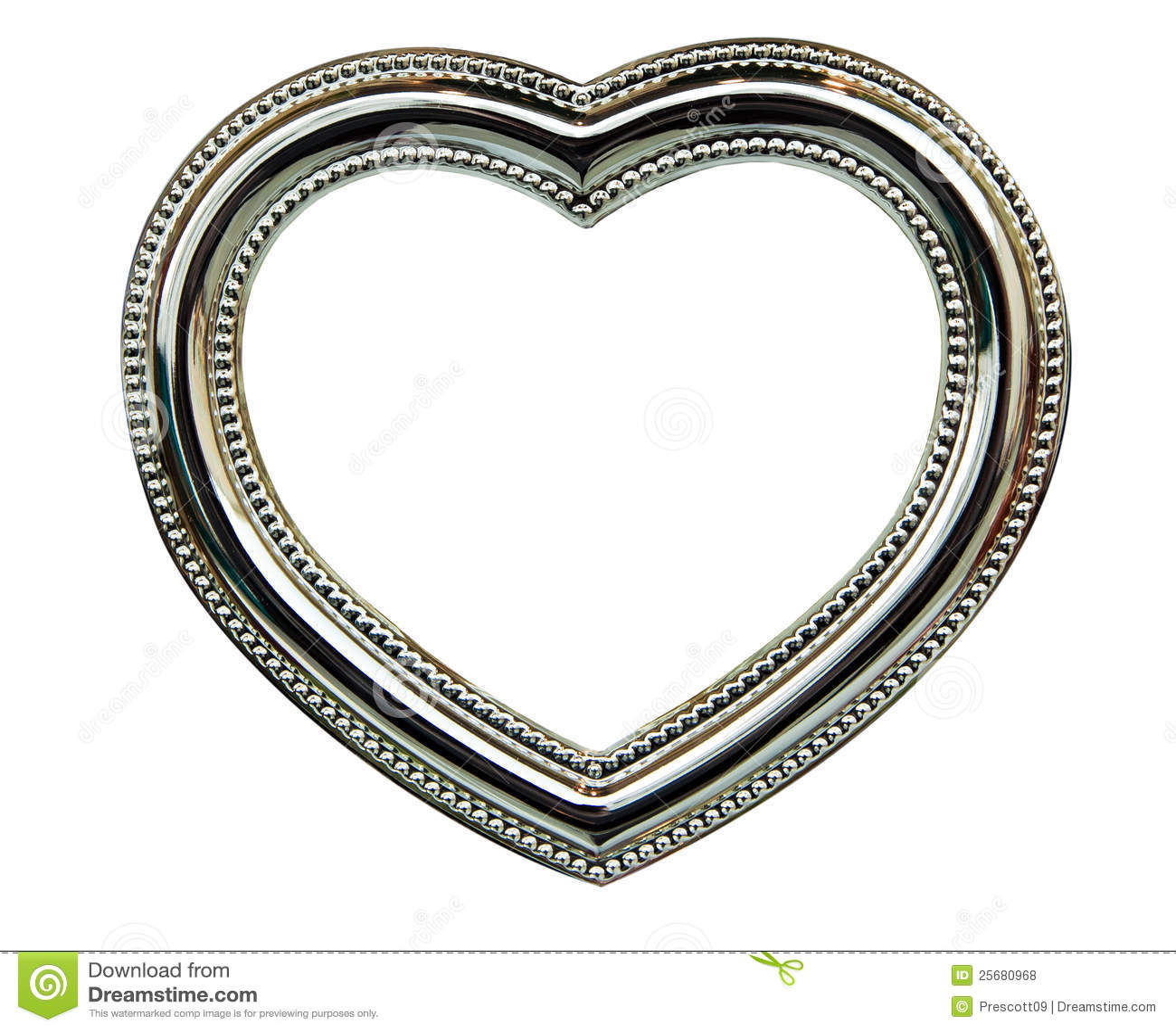 Chrome Heart Frame stock photo. Image of frame, silver - 25680968