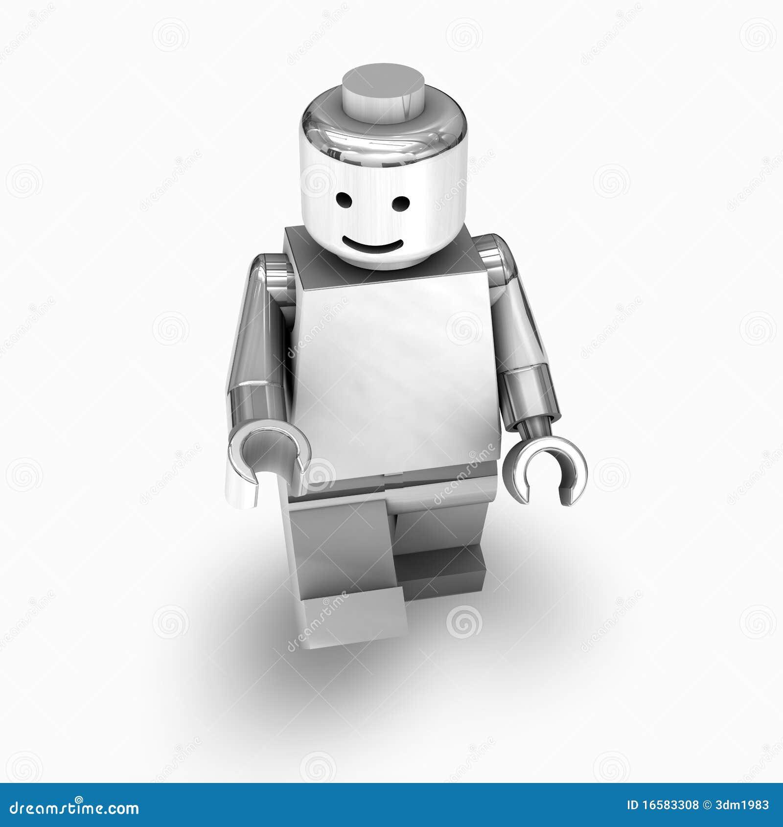 Chrome lego man editorial stock photo  Illustration of