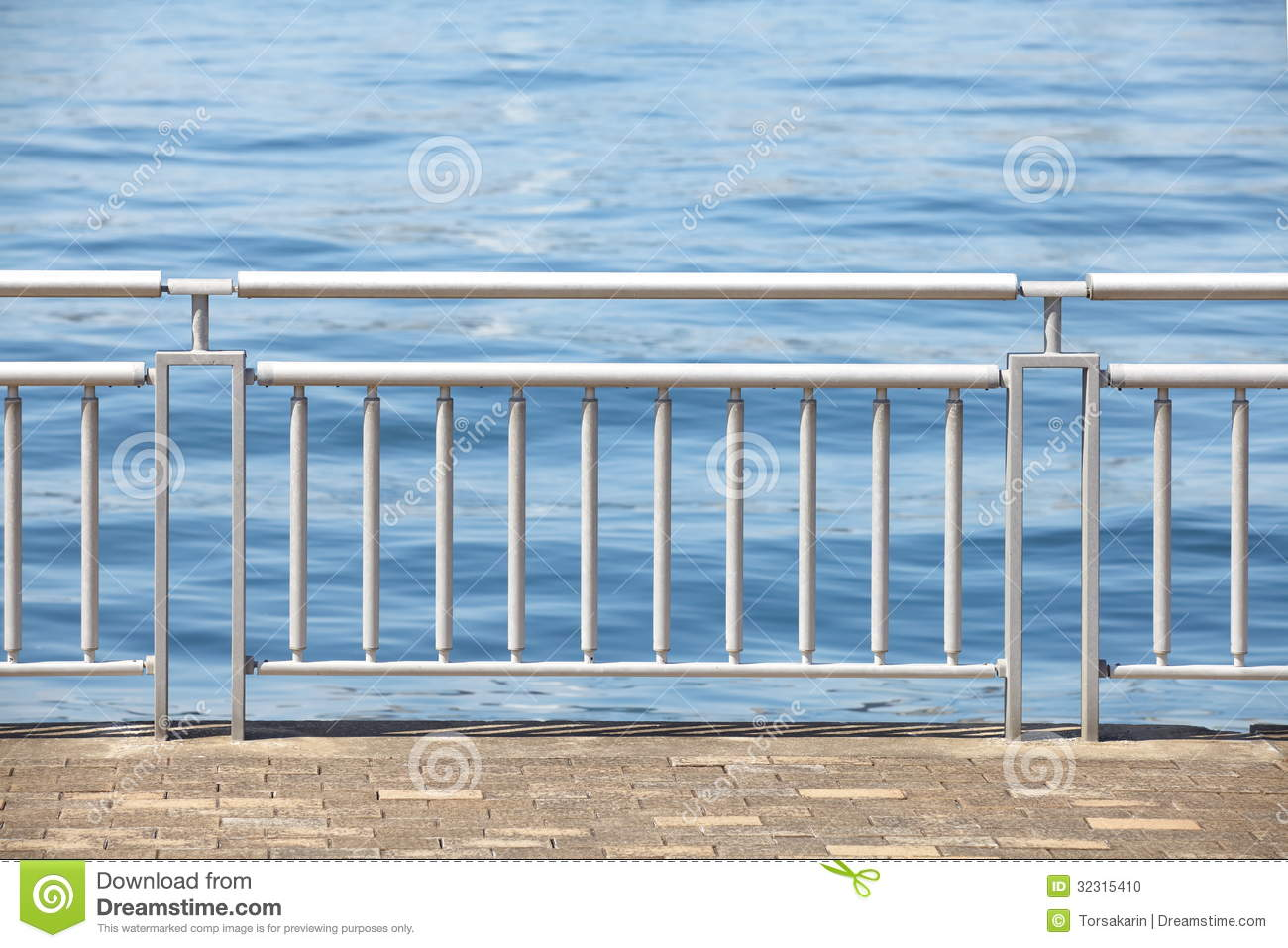 Chrome metal guard rail stock photo image of architecture