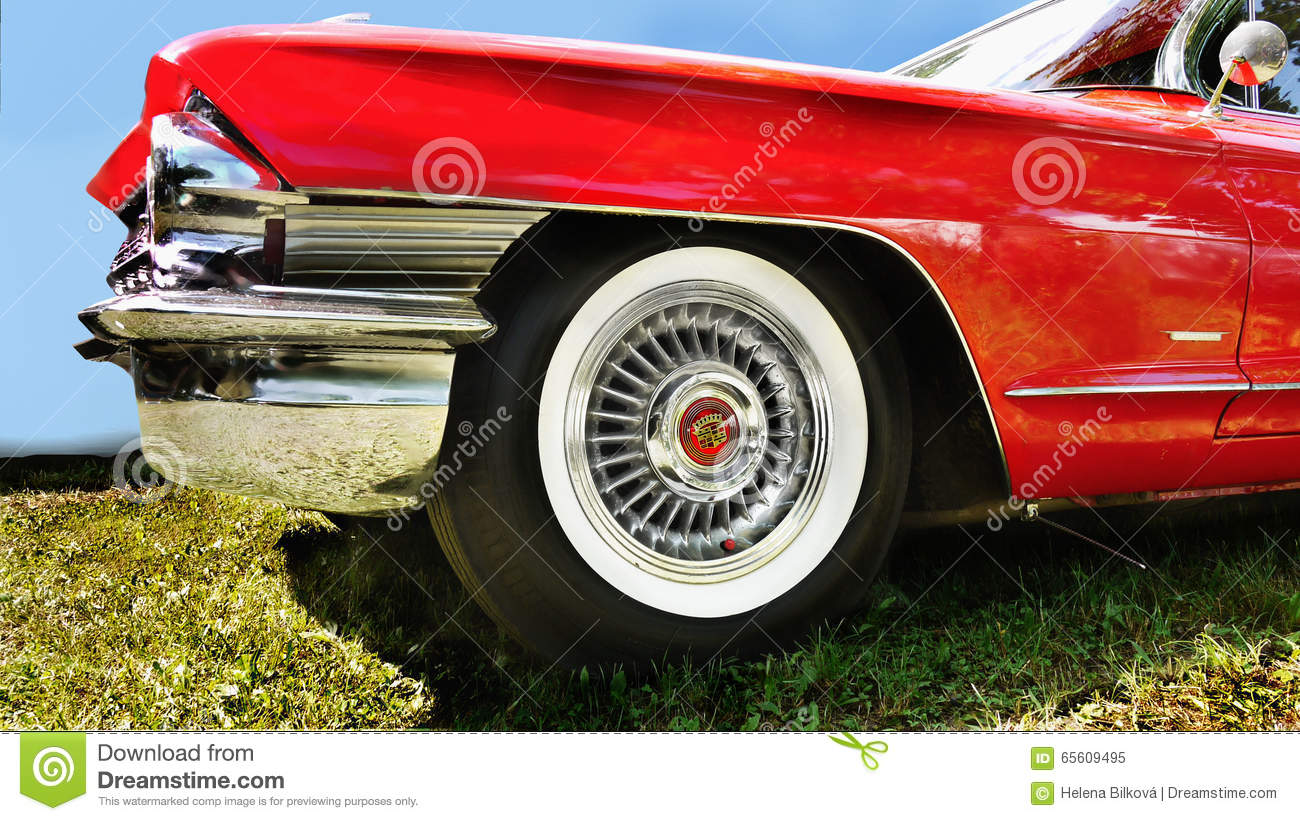 chrome and style cadillac details royalty free stock photo