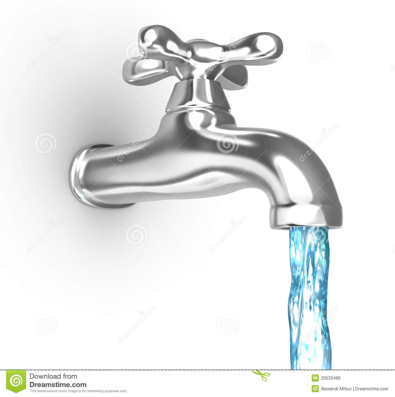 chrome tap with a water stream royalty free stock image free bus clipart images free clipart bus stop