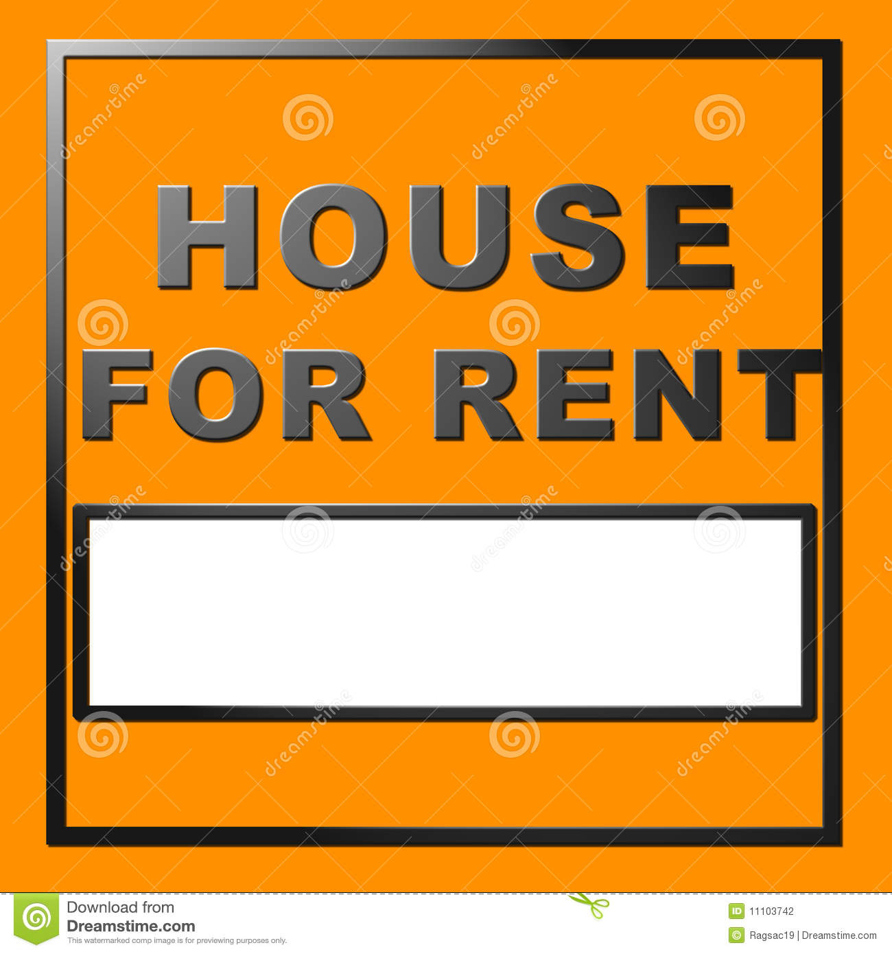 Www House Rent Com: Chrome Text House For Rent Stock Photography