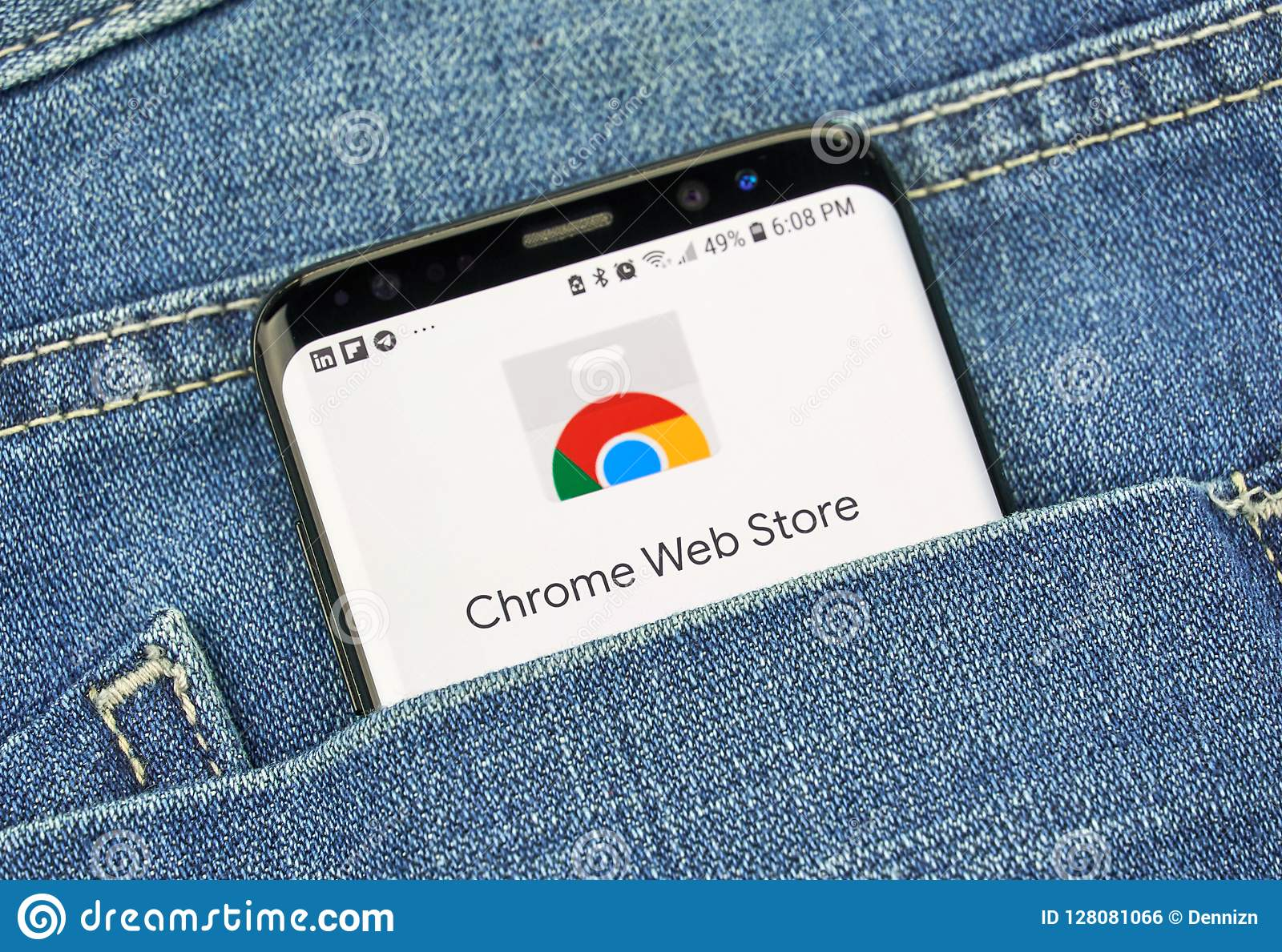Chrome Web Store On A Phone Screen In A Pocket Editorial