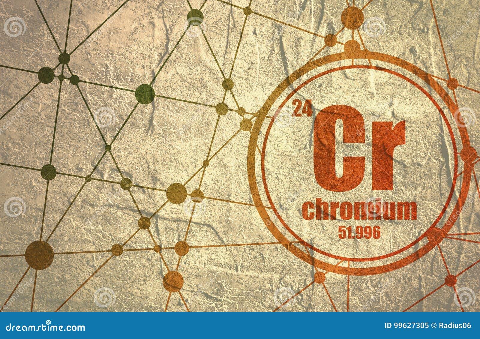 Chromium Chemical Element Stock Illustration Illustration Of