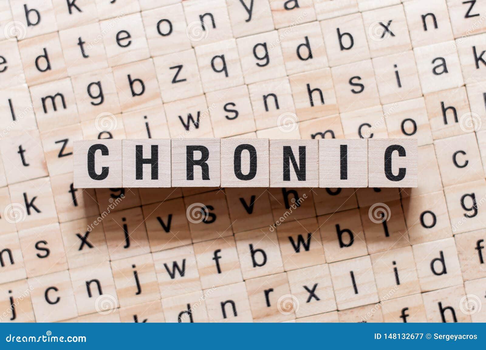Chronisches Wortkonzept auf Würfeln