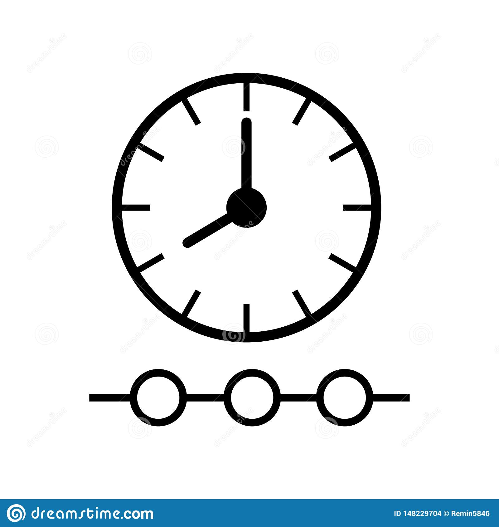 Chronologiepictogram op witte achtergrond
