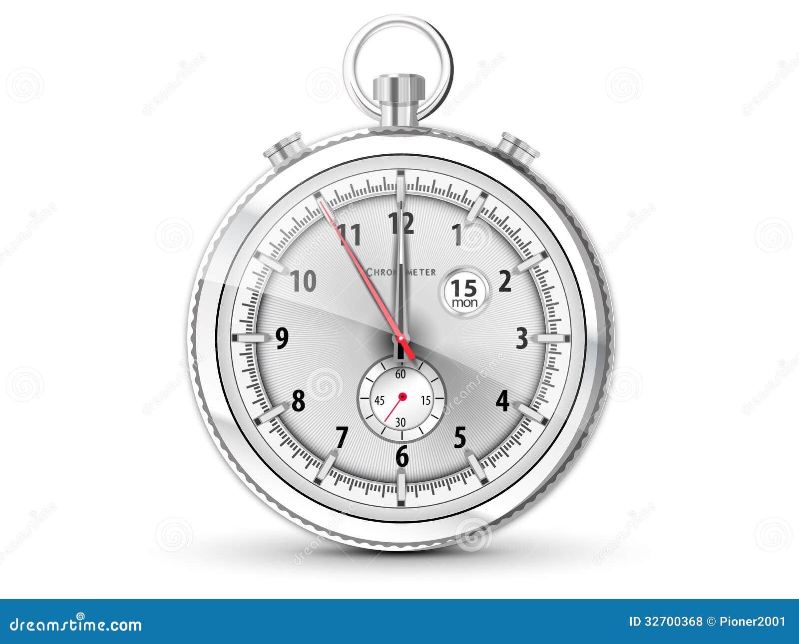 Chronometer met witte wijzerplaat