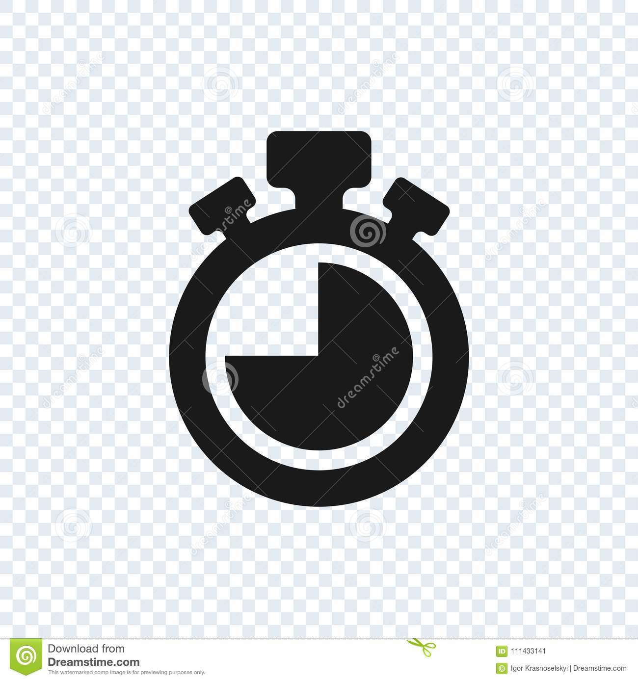 Chronometer Vector Icon On Transparent Background  Stopwatch
