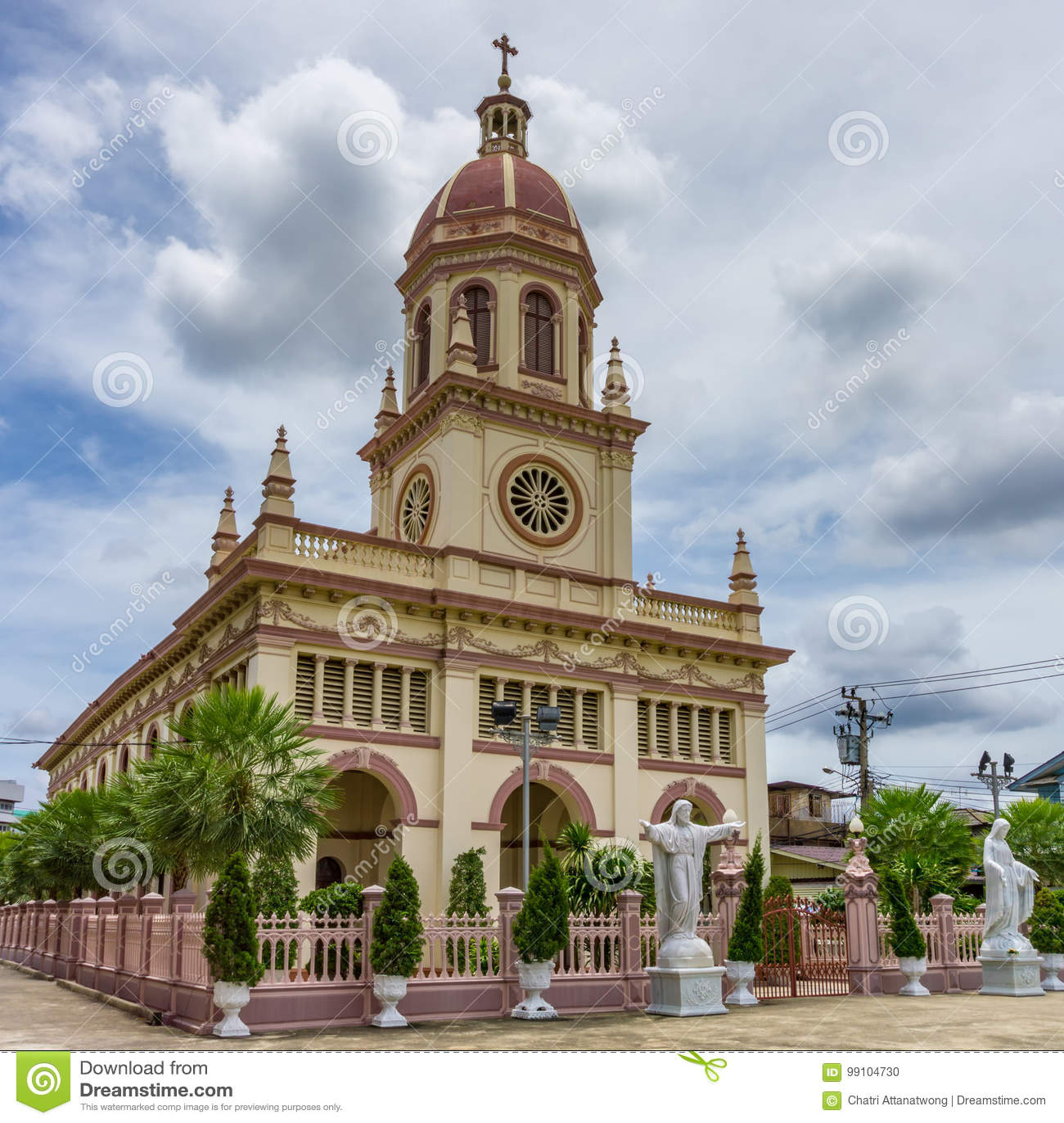 Chruch för romersk katolicism namn Santa Cruz Church