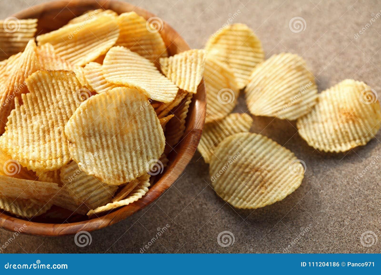 Chrupiące chip ziemniaka