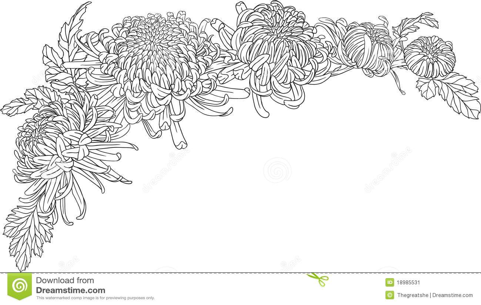 Chrysanthemum tattoo sleeve
