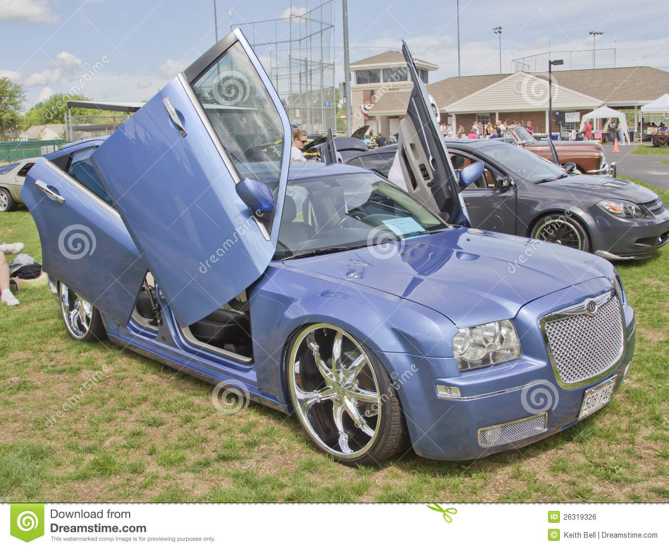 Chrysler 300 Car With Butterfly Doors Side View Editorial