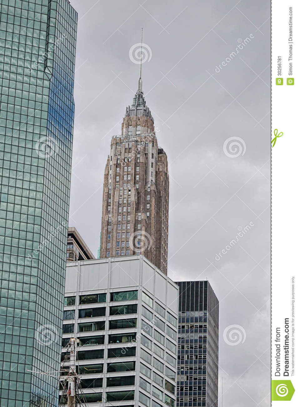The crysler building stock image image 30256781 - Style new york deco ...