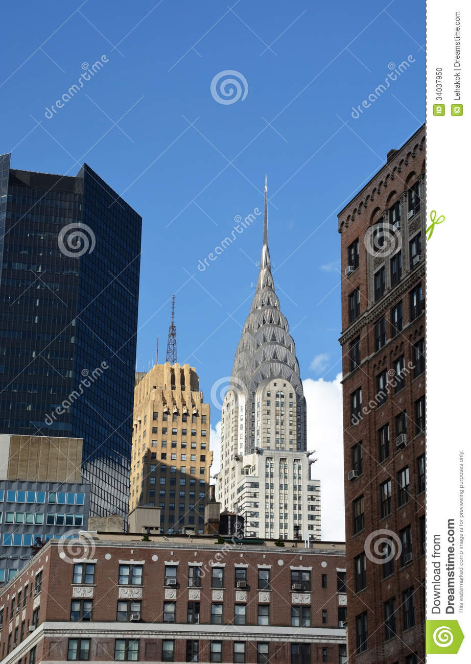 Chrysler Building Exterior Editorial Image Image Of