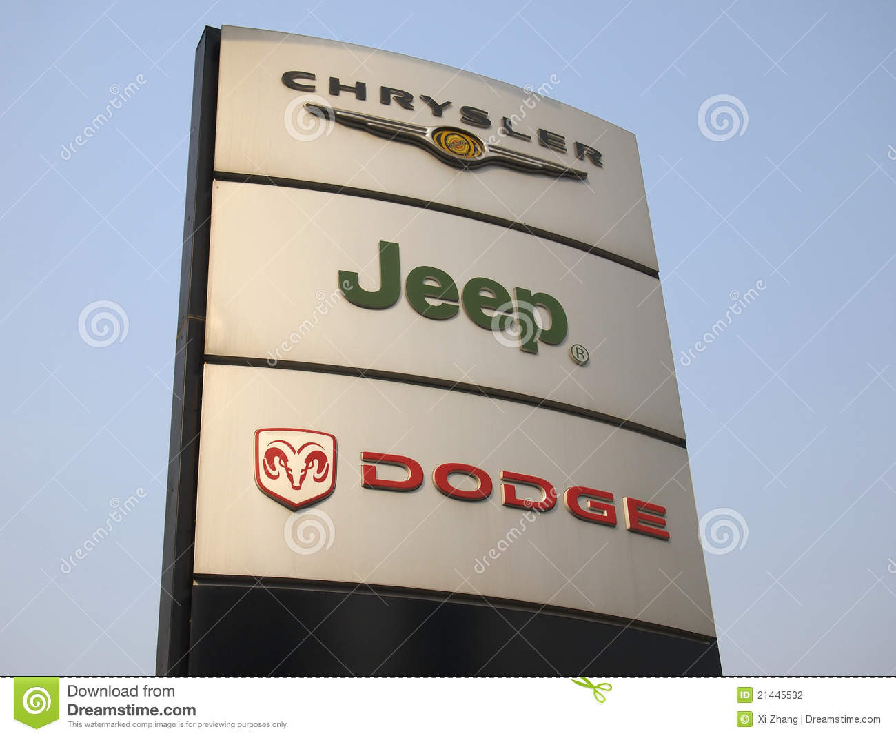 Chrysler Jeep Dodge Logo Editorial Photography Image