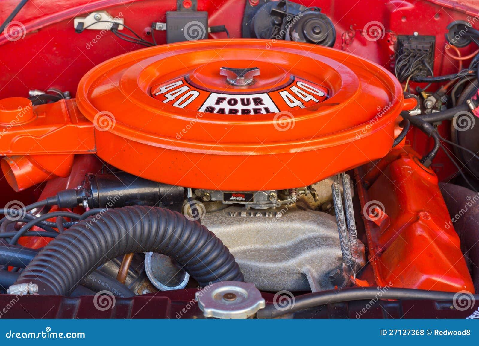Chrysler Mopar 440 C I Engine Editorial Stock Photo