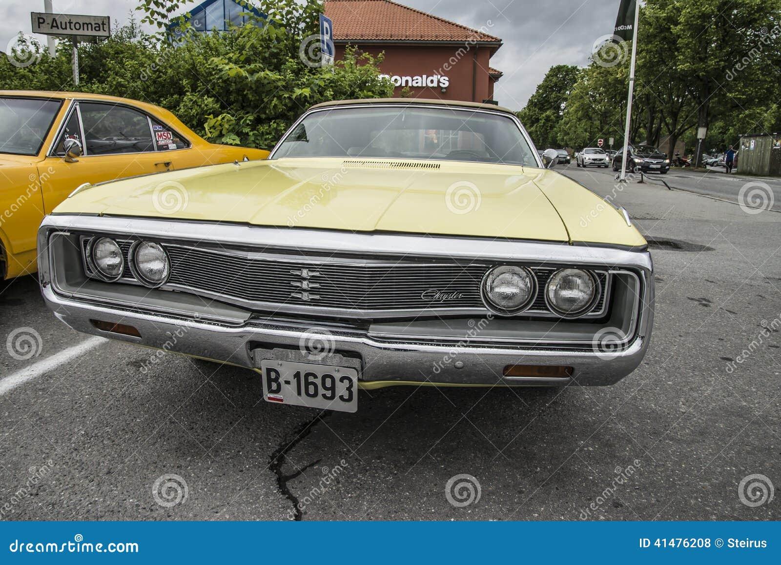 1969 Chrysler Newport Convertible Editorial Stock