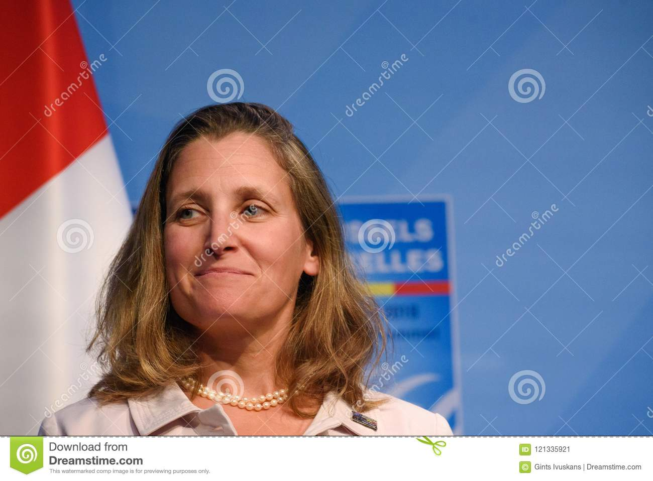 Chrystia Freeland, Minister of Foreign Affairs of Canada, Justin Trudeau, Prime Minister of Canada and Harjit Singh Sajjan