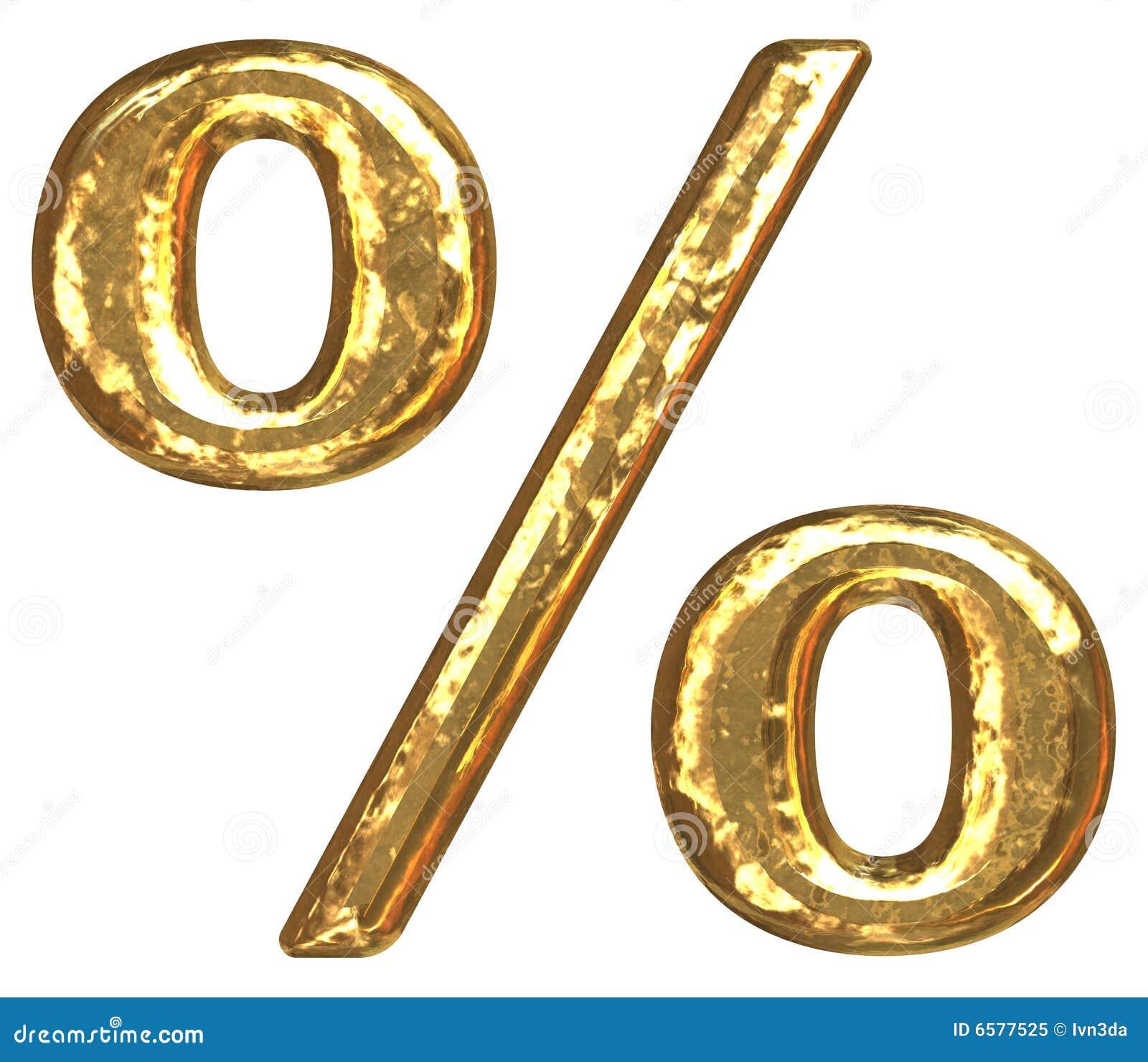 Chrzcielnicy złoty procentu znak