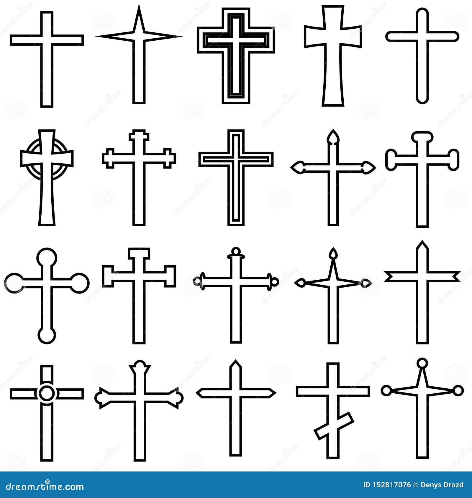 Chrześcijanin ikon przecinający wektorowy cet Chrześcijanin ikony przecinająca ilustracja Chrześcijanina symbolu przecinająca kol