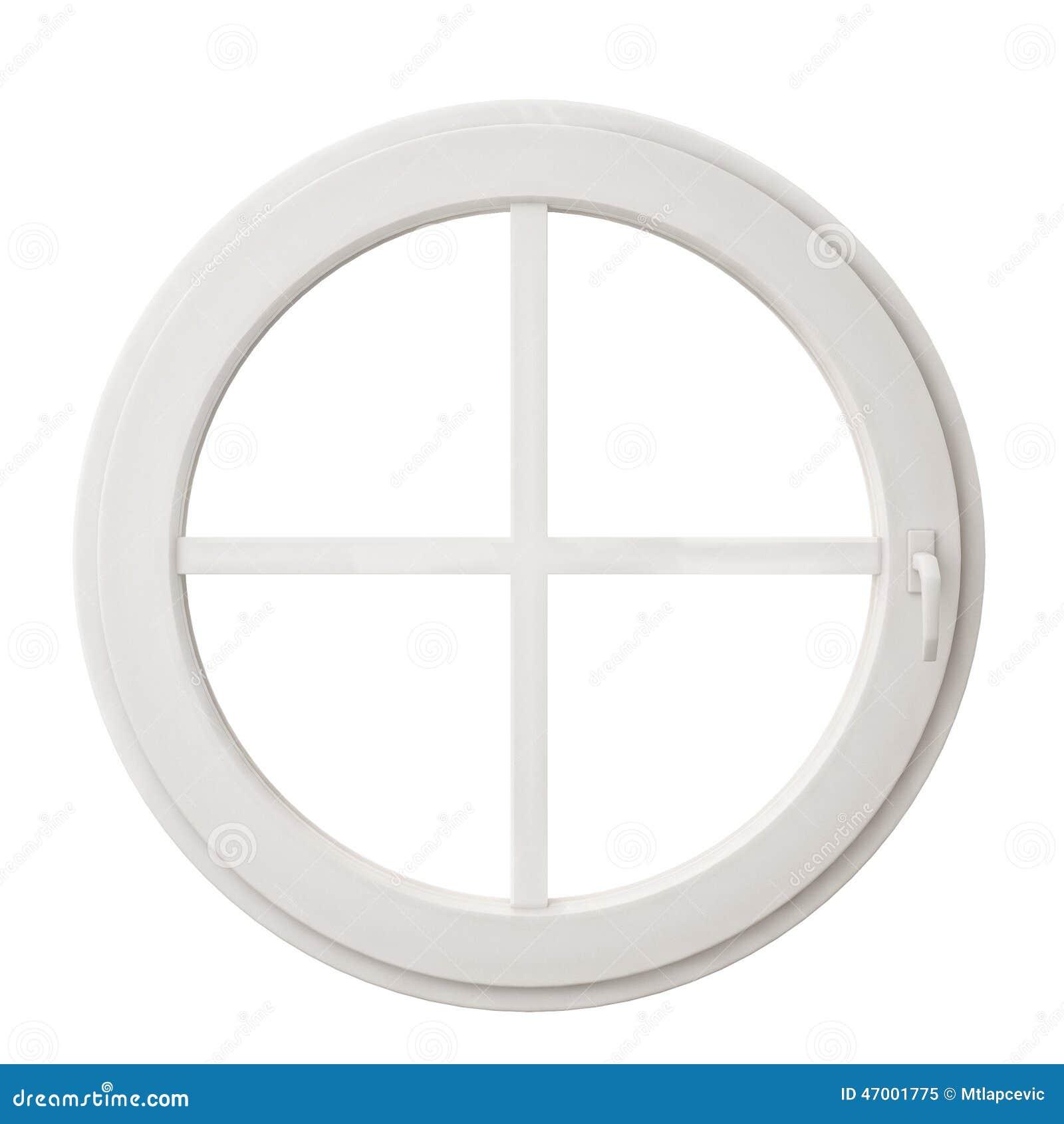 Ch ssis de fen tre blanc de cercle d 39 isolement sur le fond for Chassis de fenetre