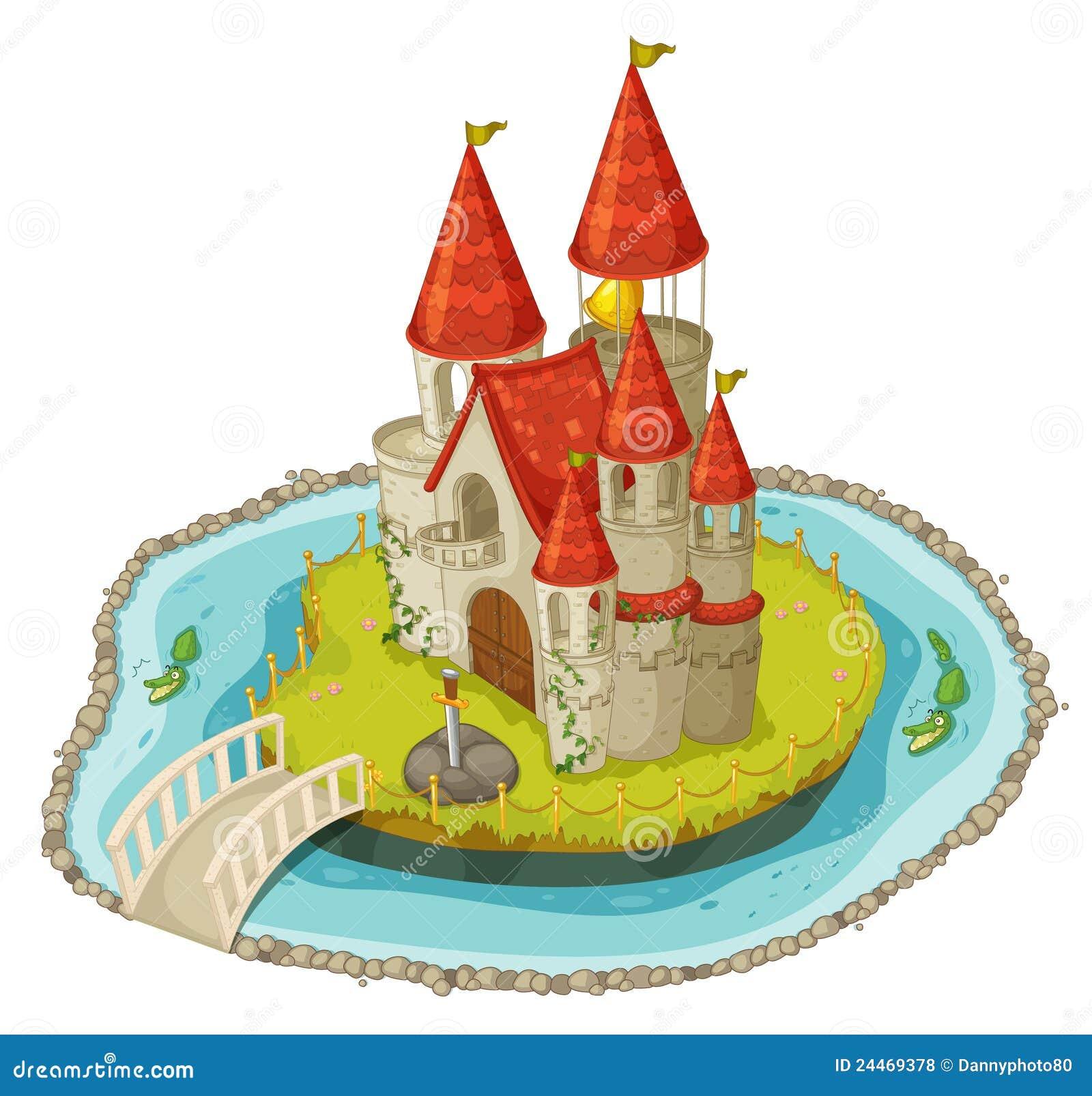 Ch teau de dessin anim photos libres de droits image - Dessin d un chateau ...