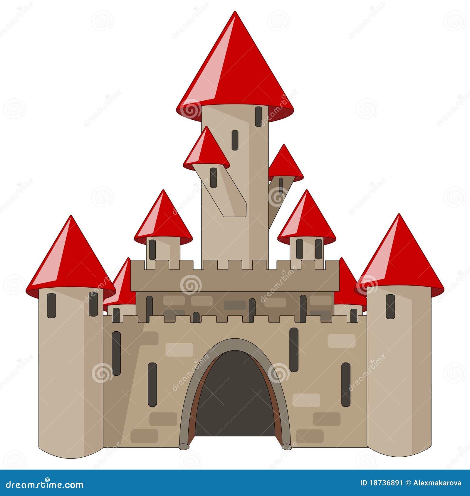 Ch teau de dessin anim d 39 isolement sur le blanc image - Dessin de chateau ...
