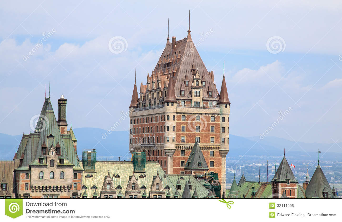 Ch teau frontenac quebec city royalty free stock image for Design hotel quebec city