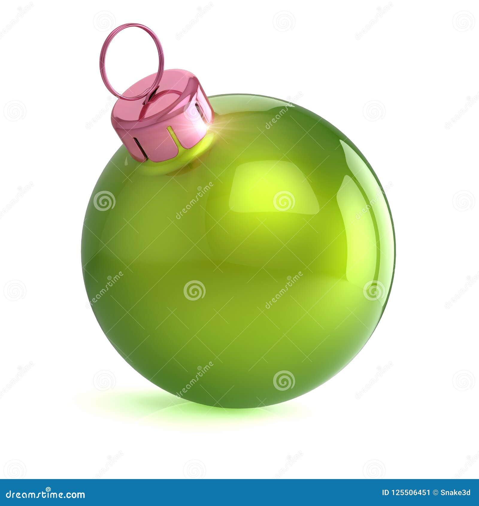 33538e67a2c Chuchería Brillante Del Año Nuevo De La Bola Verde De Navidad Stock ...