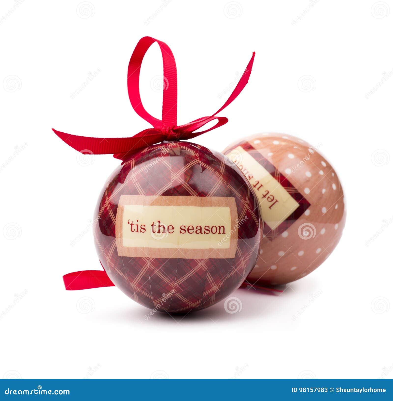 Chuchería tradicional del tartán y de la Navidad del lunar aislada en a