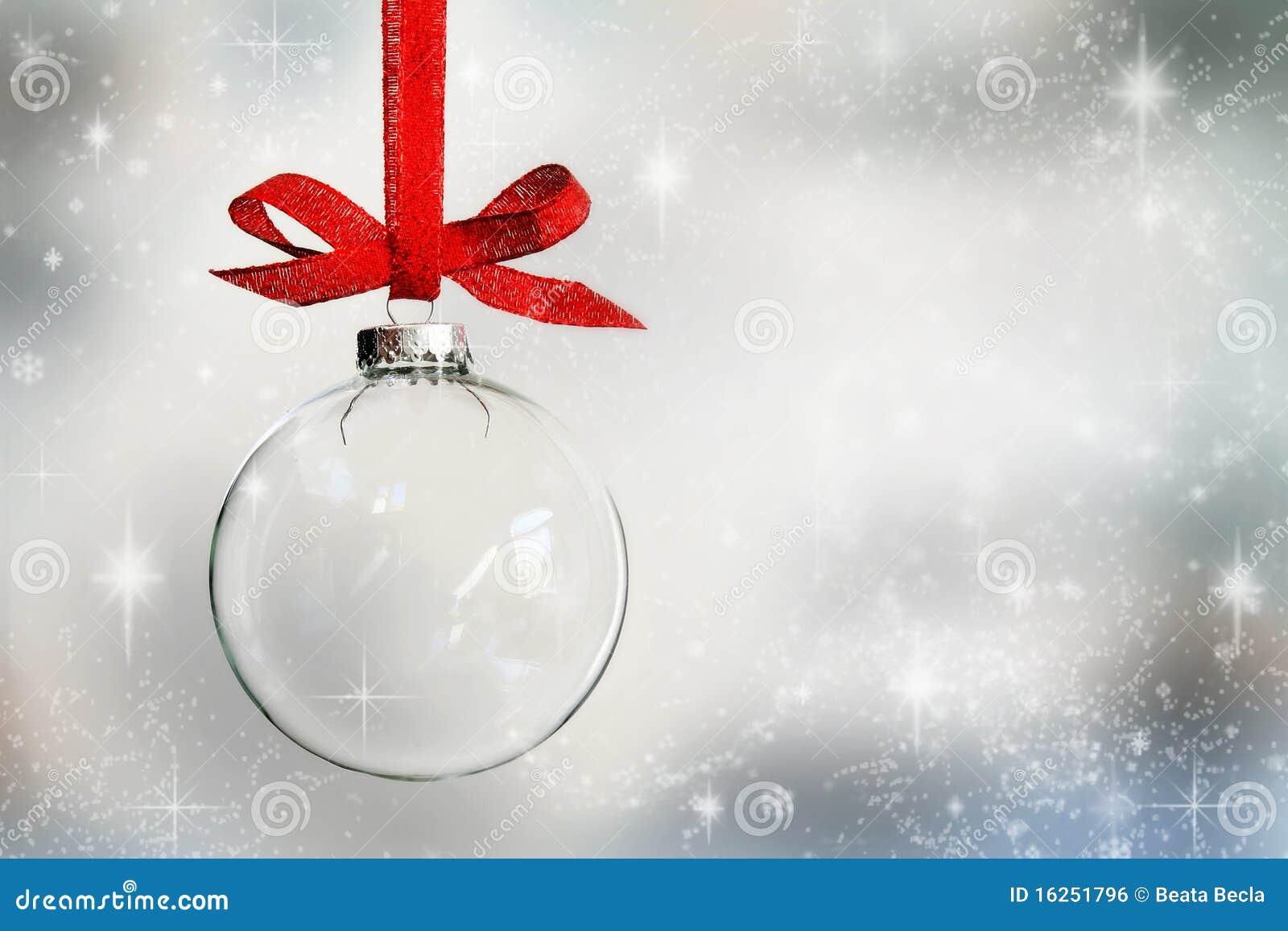 Chuchería transparente de la Navidad
