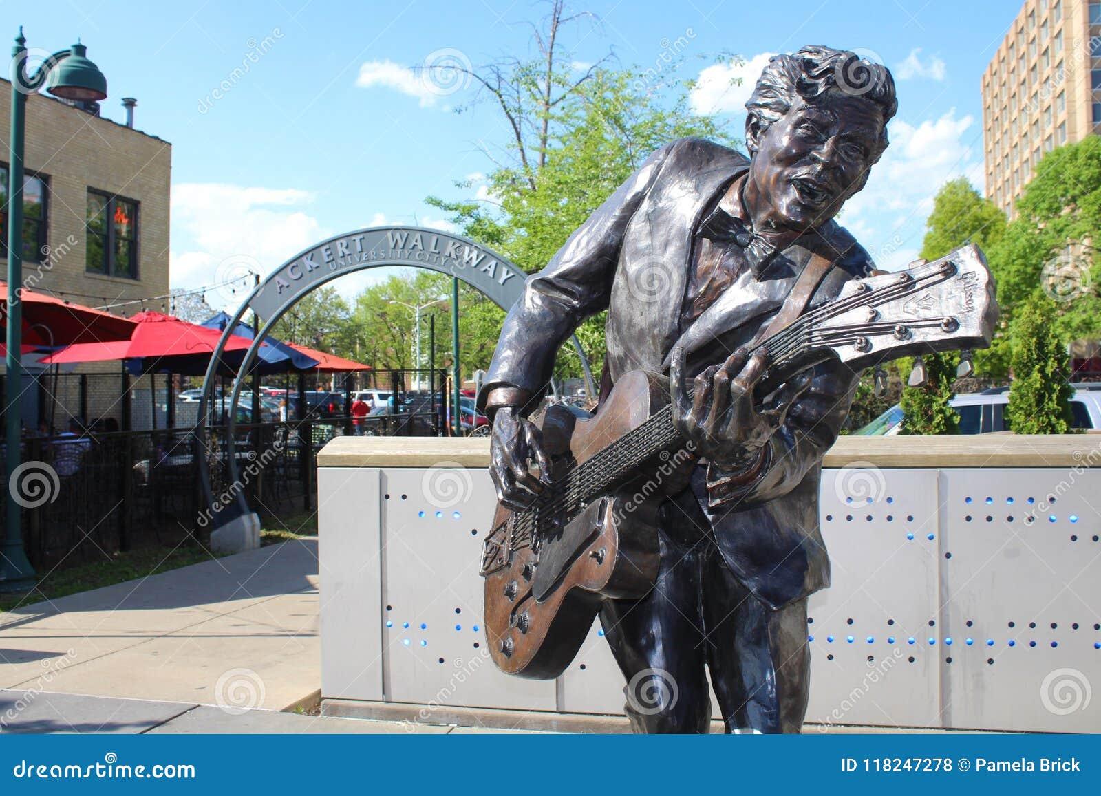 Chuck Berry Statue, St. Louis, Missouri