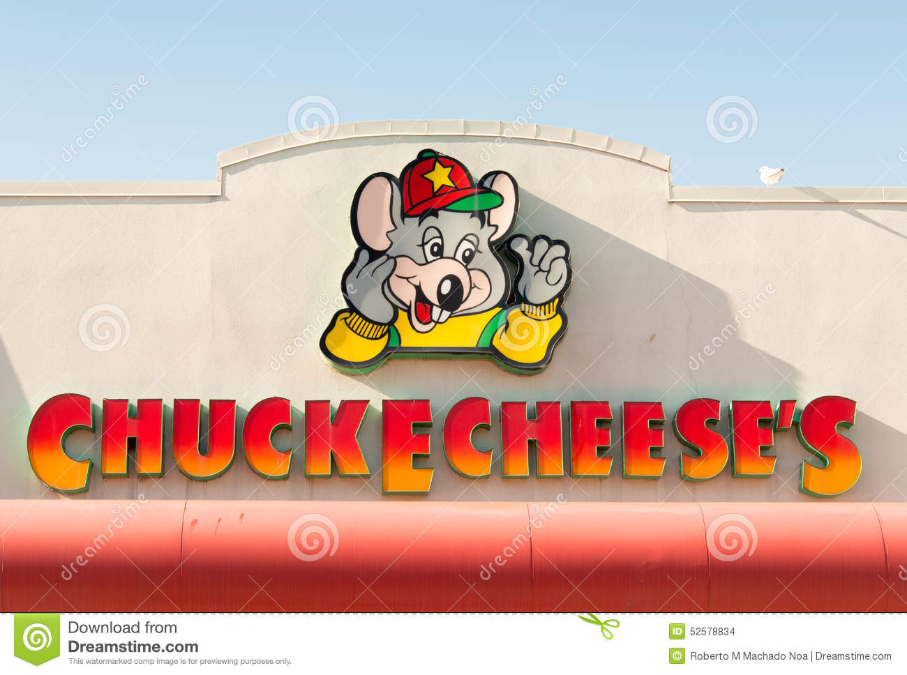 Chuck E Cheese Logo Or Sign Editorial Stock Image Image