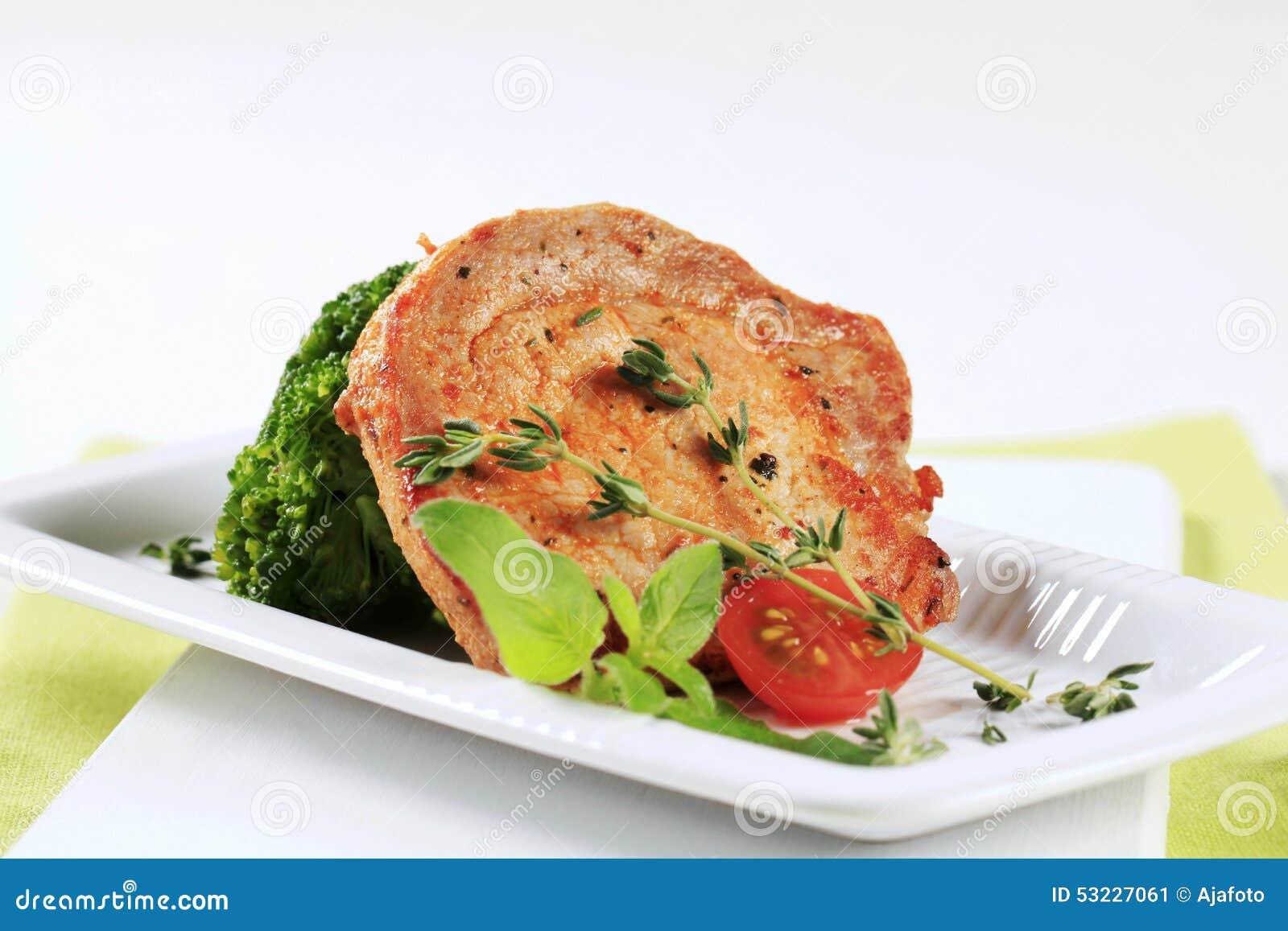 Chuleta de cerdo del tomillo