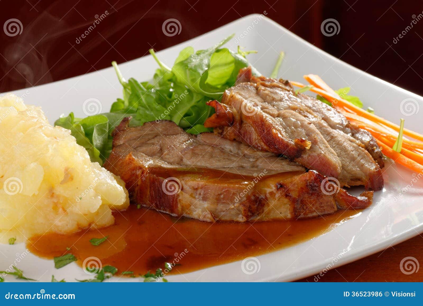 Chuleta de cerdo frita