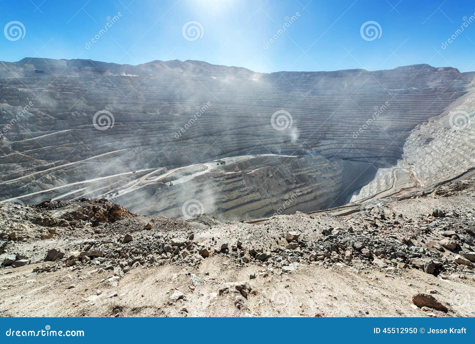 Chuquicamata kopalni widok