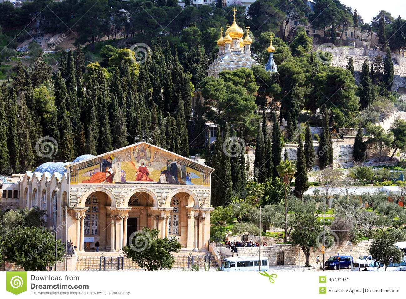 Church of All Nations and Mary Magdalene Convent on the Mount of