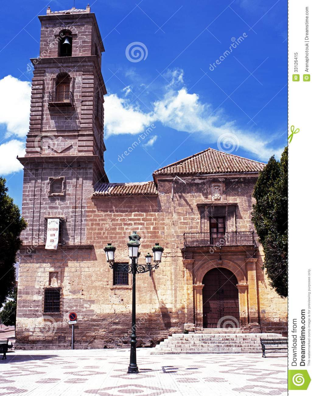 Alora Spain  city images : Church, Alora, Spain. Royalty Free Stock Photo Image: 33126415
