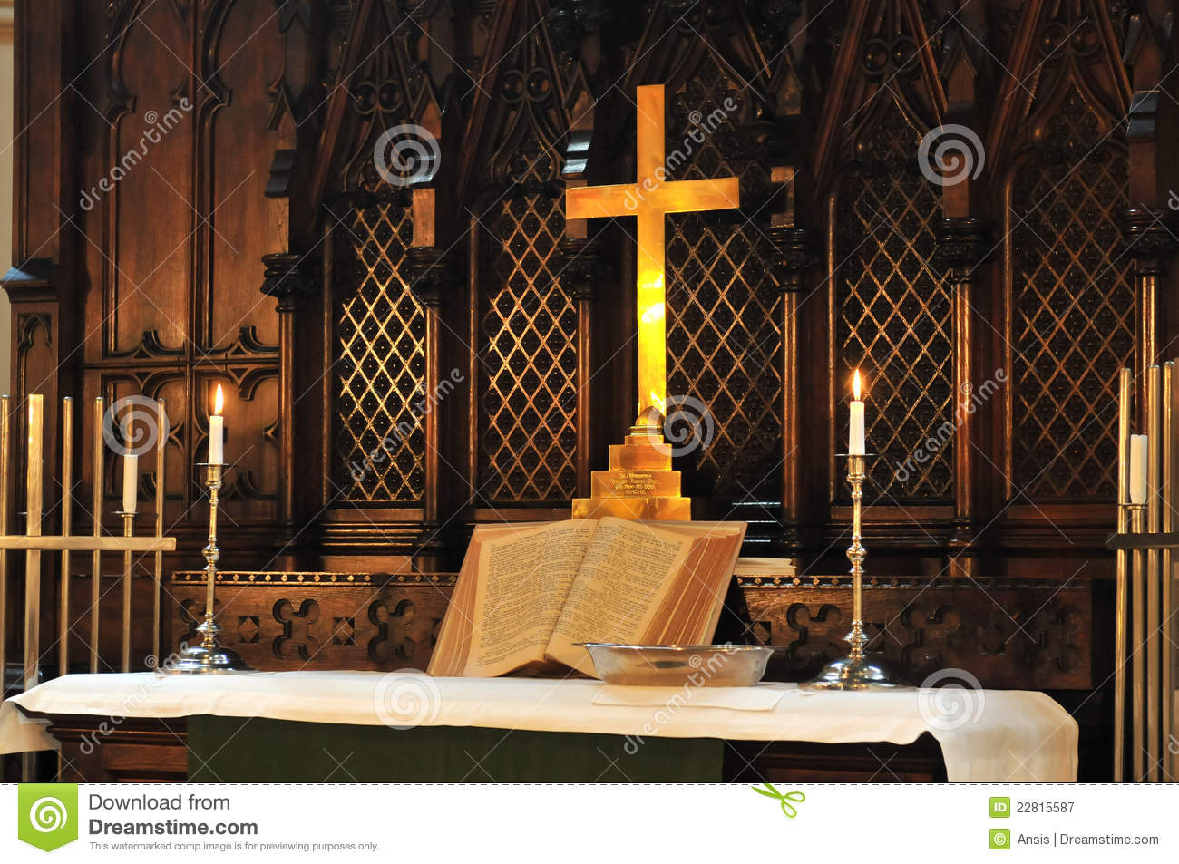 Church Altar Royalty Free Stock Photography - Image: 22815587