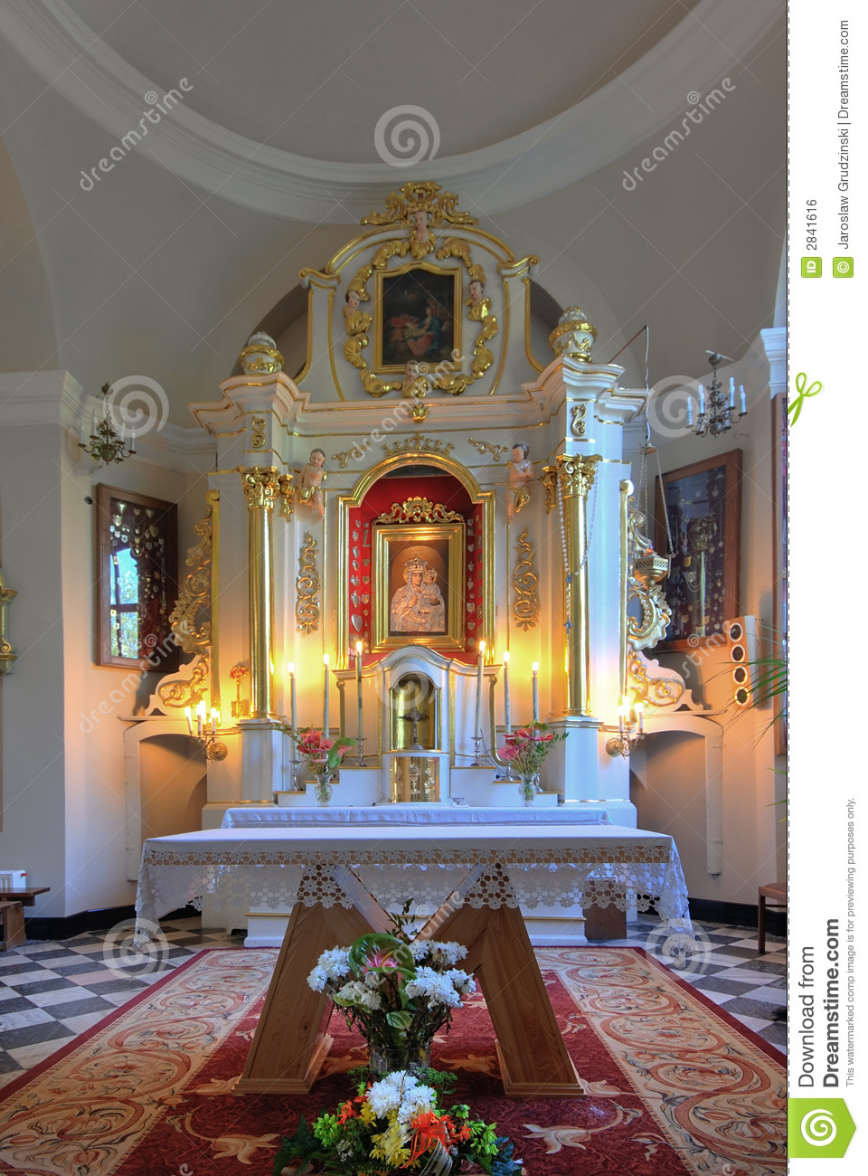 Church Altar Stock Photo Image Of Baroque Believer