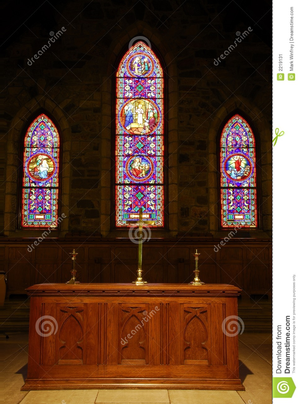 church alter stock image