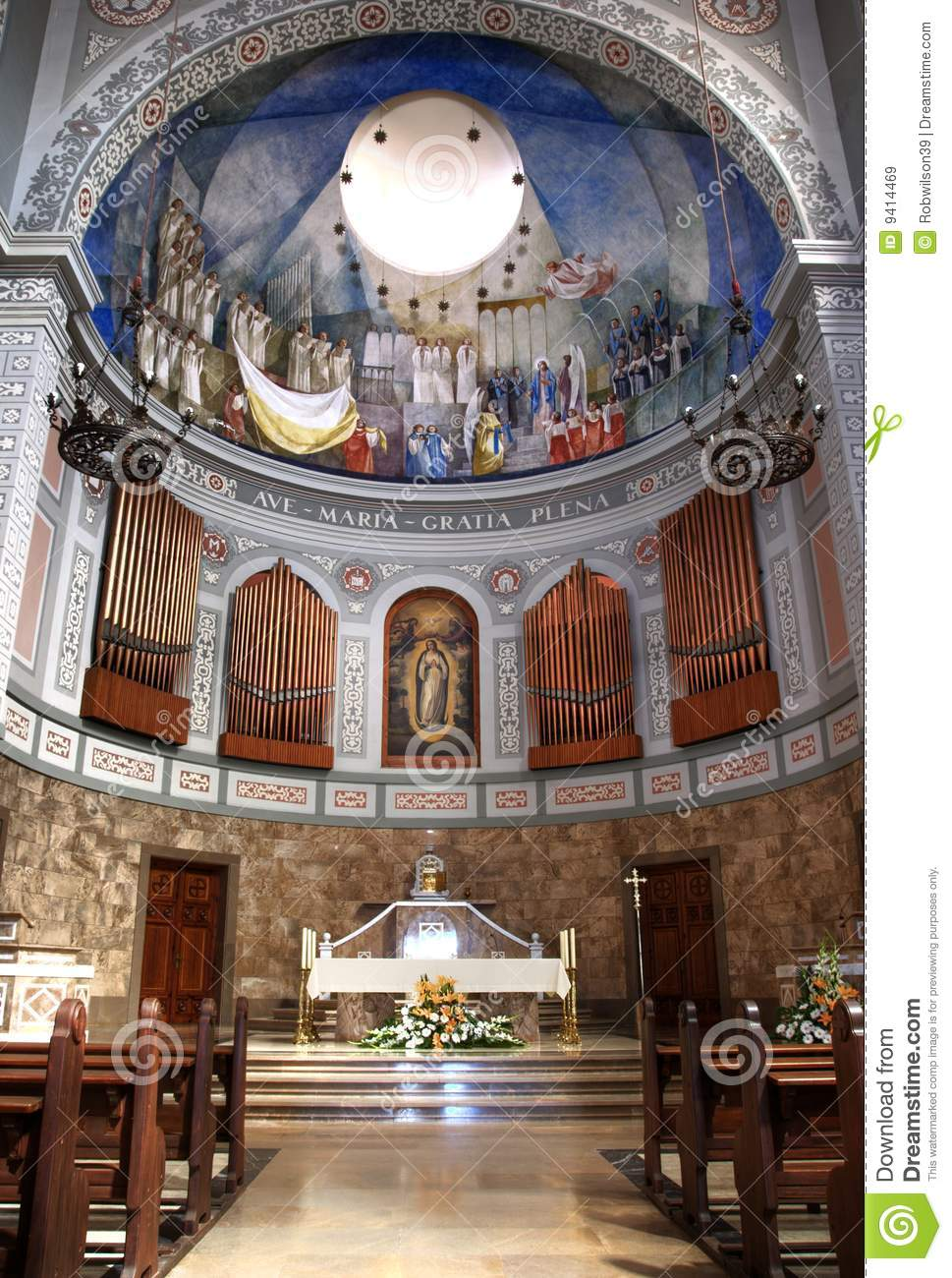 church alter in europe stock image image of decorated
