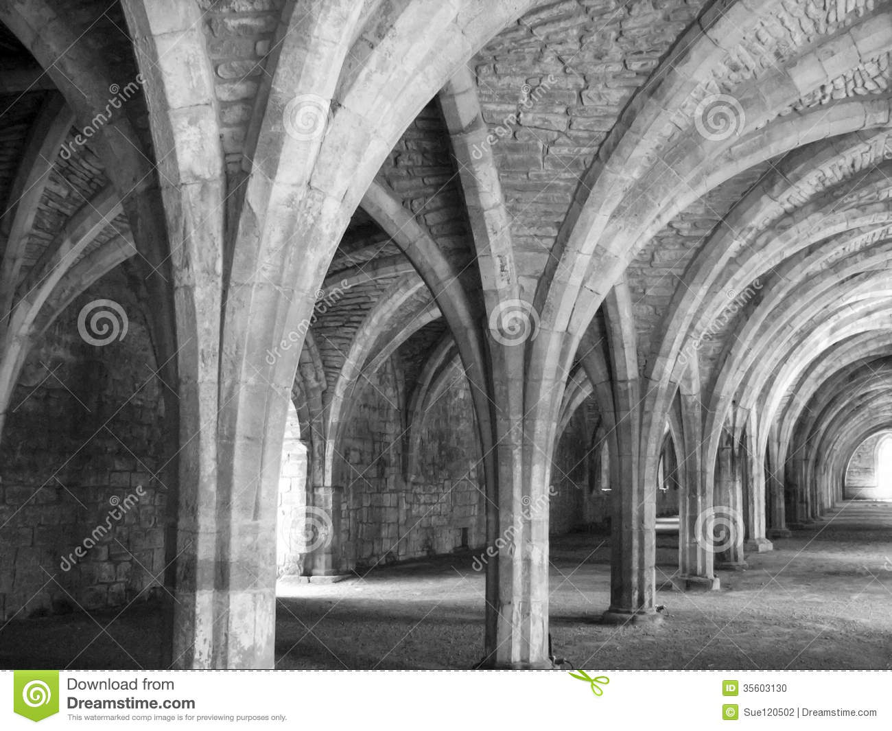 Church Arches In Black And White Stock Photo Image 35603130