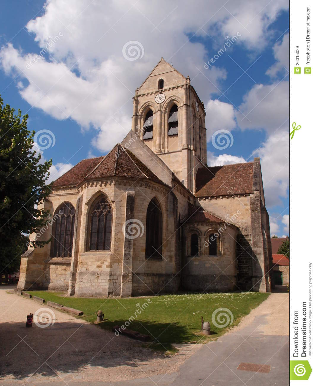 church of auvers sur oise as painted by van gogh stock image image of gogh france 26015029. Black Bedroom Furniture Sets. Home Design Ideas